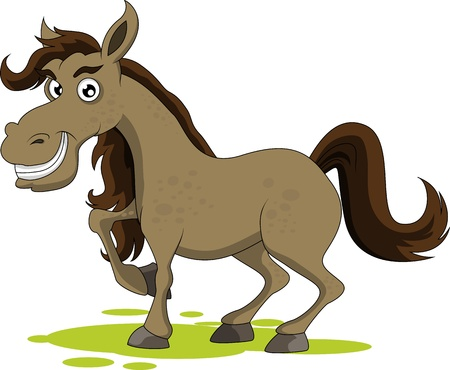 cute horse smiling Vector
