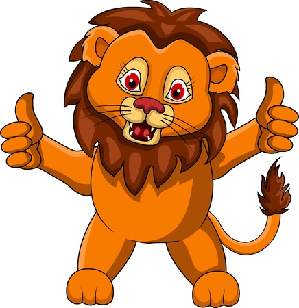 whisker: funny Lion cartoon