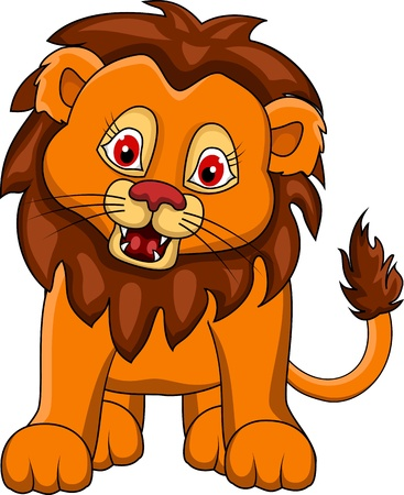 undomesticated: funny Lion cartoon