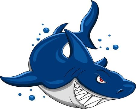 angry shark Stock Illustratie