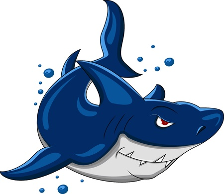 angry shark Stock Vector - 16813594