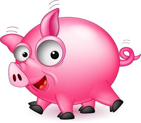 funny pig cartoon Stock Vector - 16881068