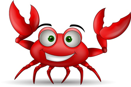 funny cartoon crabs Vector