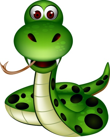cartoon slang: schattig slang Stock Illustratie