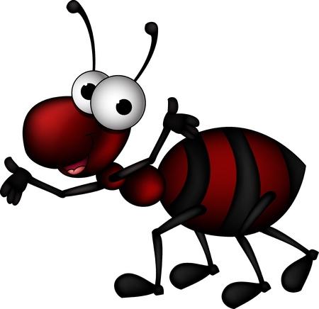hormiga caricatura: hormiga roja de dibujos animados