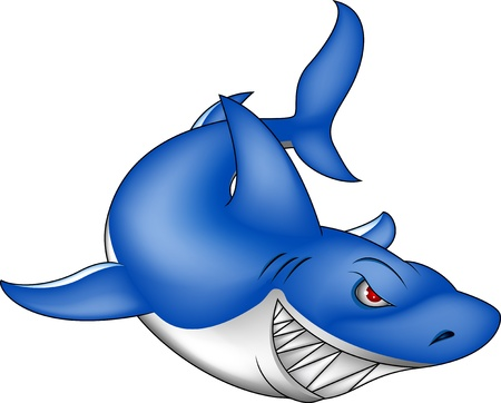 angry blue shark Stock Vector - 16934779