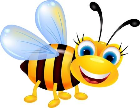 abeja: dibujos animados divertido de la abeja