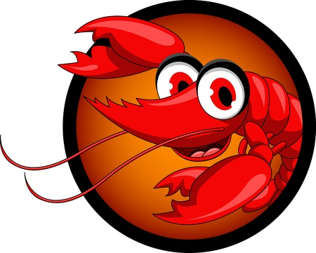 funny shrimp cartoon Stock Vector - 17213335