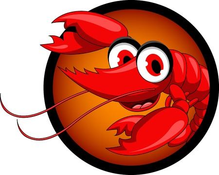 funny shrimp cartoon Stock Vector - 17213335