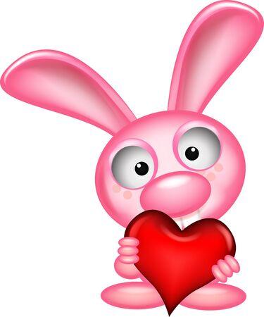 coniglio bella detiene cuore amore