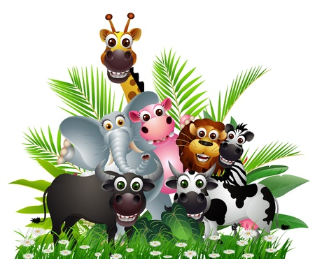 funny animal cartoon collection Stock Vector - 17452343