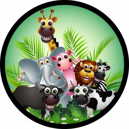 funny animal colección de dibujos animados