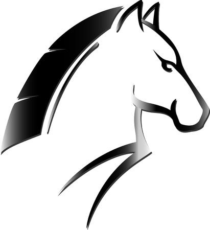 thoroughbred: horse head tattoo