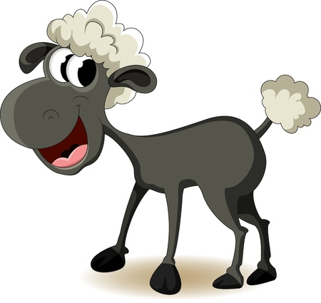 cartoon sheep: funny sheep cartoon Illustration
