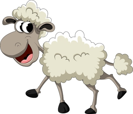 mutton: funny sheep cartoon Illustration