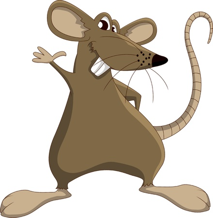rodents: Cute cartoon mouse