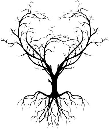 lone tree: tree silhouette