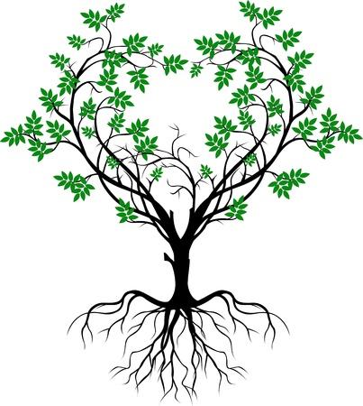 albero stilizzato: albero silhouette Vettoriali