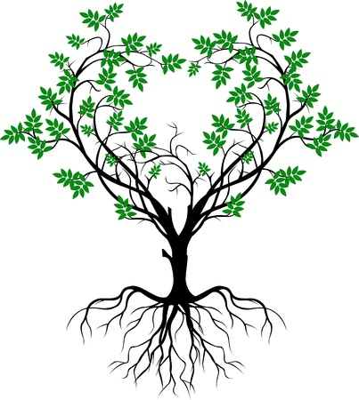 growing tree: tree silhouette