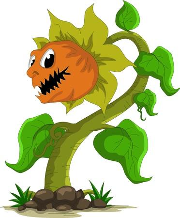 carnivorous: carnivorous plant cartoon  Illustration
