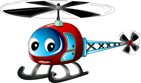cute helicopter cartoon Stock Illustratie