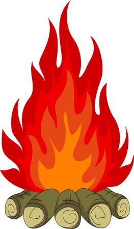 incendio bosco: fal? Vettoriali