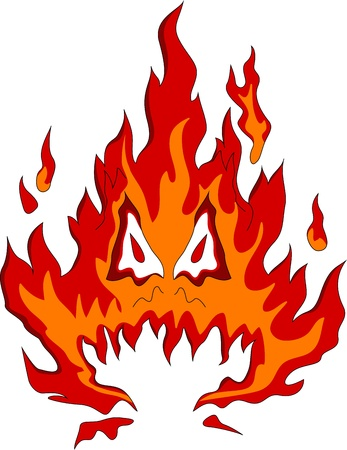 fire monster Vector