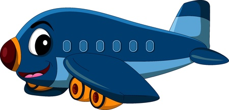 cartoon airplane Stock Vector - 17840624