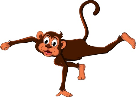cute monkey cartoon expression Stock Vector - 17840618
