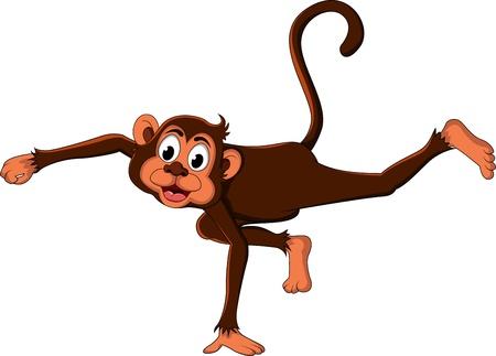 cute monkey cartoon expression Stock Vector - 17840618