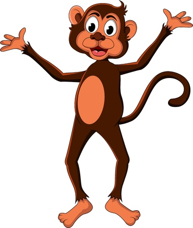 cute monkey cartoon expression Stock Vector - 17840655