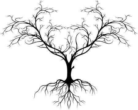 Baum-Silhouette ohne Blatt Standard-Bild - 17840663