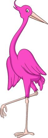 egret: heron cartoon
