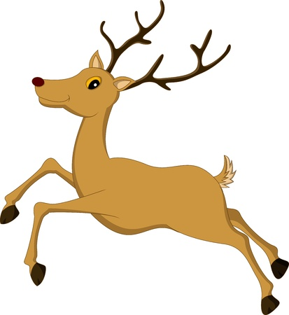 cute deer cartoon Stock Vector - 17840674