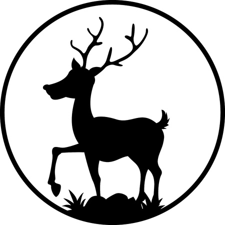 white tail deer: cute deer silhouette