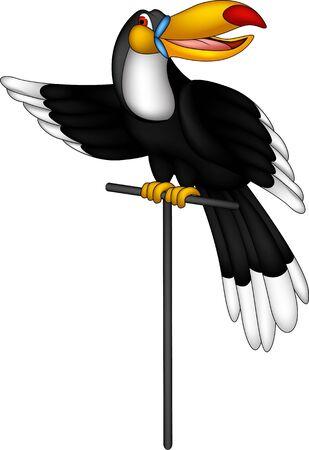 cute toucan cartoon Stock Vector - 17884596