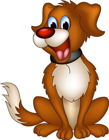 hound dog: cute dog cartoon Illustration