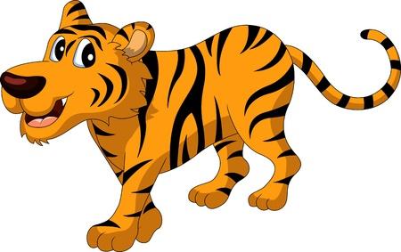 tigresa: lindo tigre de la historieta Vectores