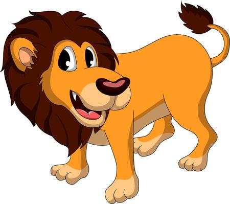 cute lion cartoon Stock Vector - 17884595