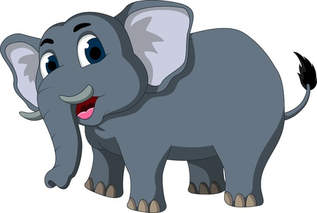cute elephant cartoon Stock Vector - 17884529