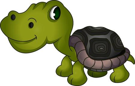 cute turtle cartoon Stock Vector - 19032896