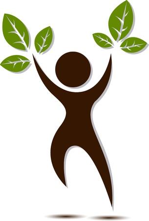 bionomics: people tree vector for you design Illustration