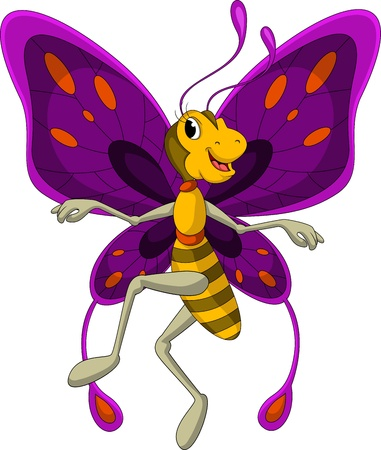 escarabajo: linda de la historieta de la mariposa