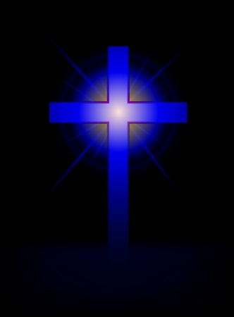 symbolic cross: blue cross vector background