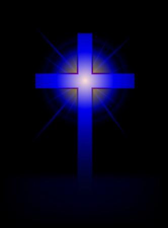 silver cross: blue cross vector background