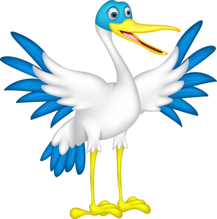 duck green: happy duck cartoon Illustration