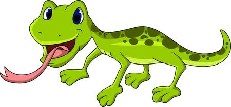 salamandre: bande dessin�e de l�zard mignon