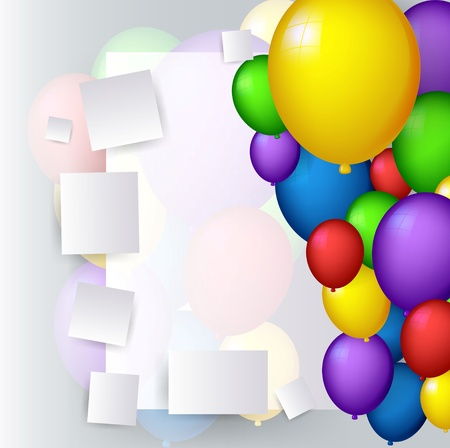 holiday celebrations: vector illustration of decoration with balloons Illustration