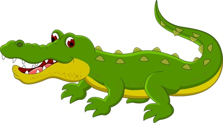 Crocodile cartoon Illustration