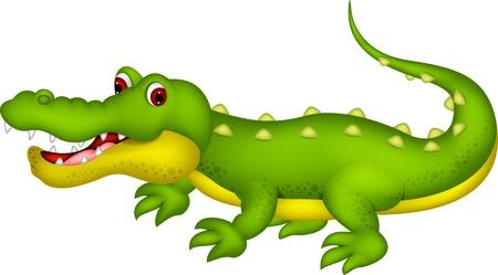 Crocodile cartoon Stock Illustratie